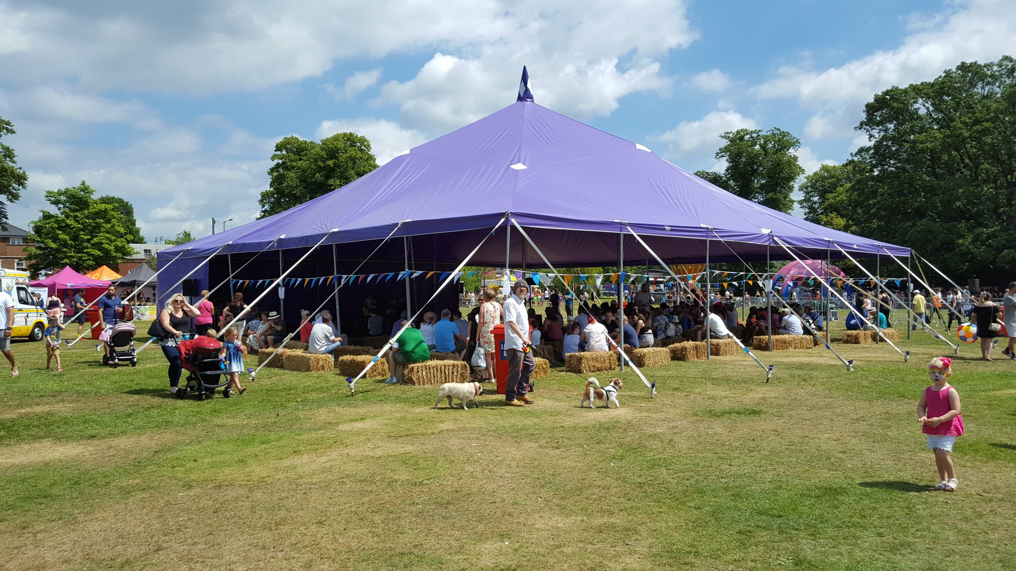 18m x 18m Big top hire strawberry fayre
