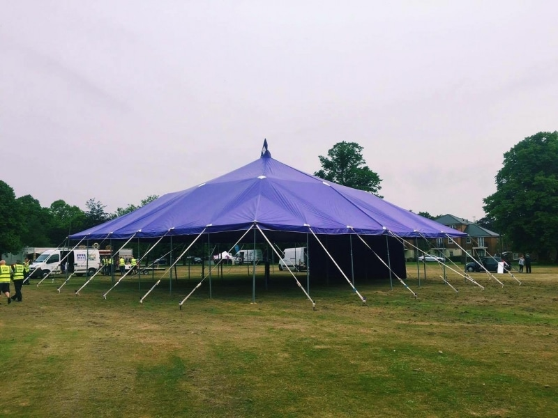 18m x 18m Big top with open sides