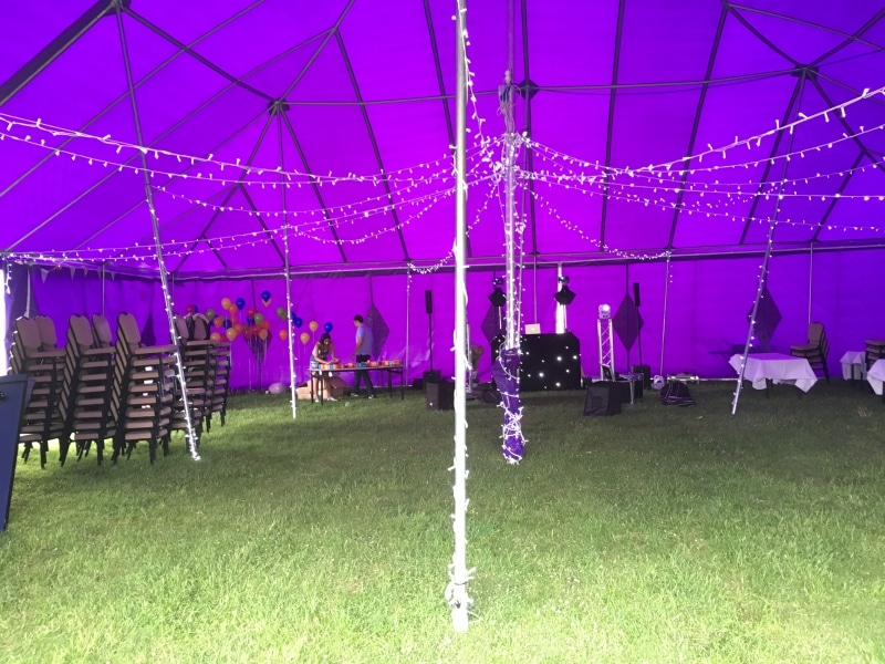 18m x 18m Big top hire for team building day