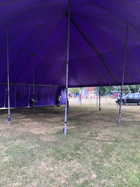 18m x 18m purple big top