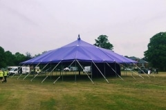 18m x 18m Big top hire with open sides