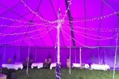 18m x 18m Big top with fairy lights