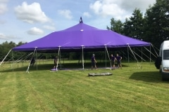 18m x 18m Big top hire without sides