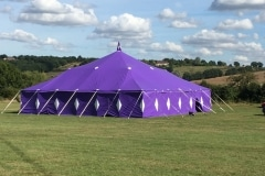 18m x 18m Big top hire for cinema club