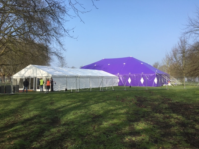 18m x 27m Big top with a 9m frame