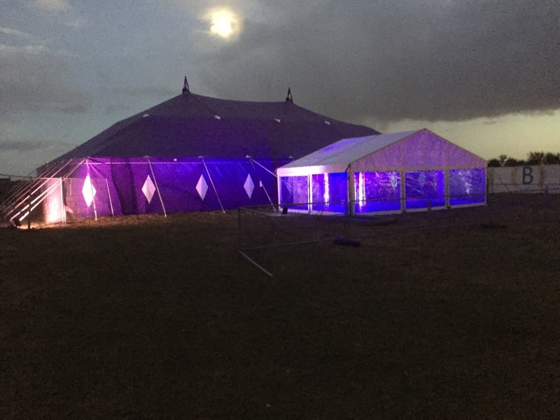 18m x 27m Big top at night