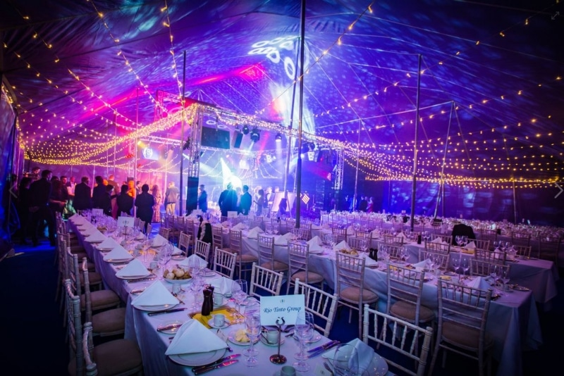 18m x 27m Big top Bachelors ball