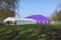 18m x 27m Big top hire with a 9m frame