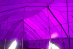 18m x 27m purple big top hire