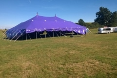 18m x 27m Big top hire with sides rolled