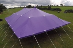18m x 27m Big top hire aerial