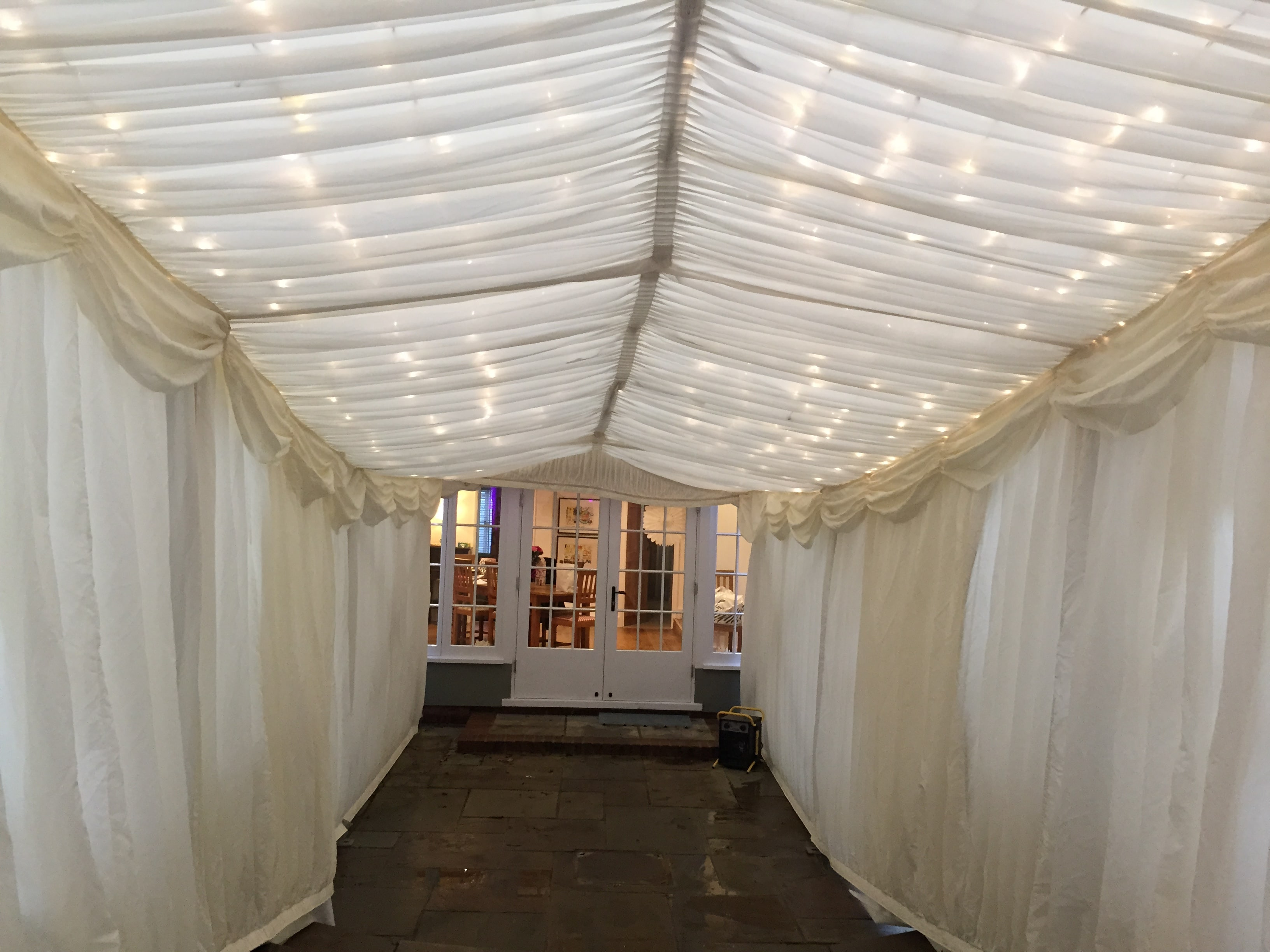 3m frame marquee with fairy lights