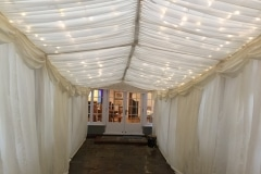 3m frame marqueewith fairy lights