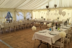 9m x 9m marquee with wooden floor