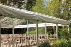 9m clear frame marquee
