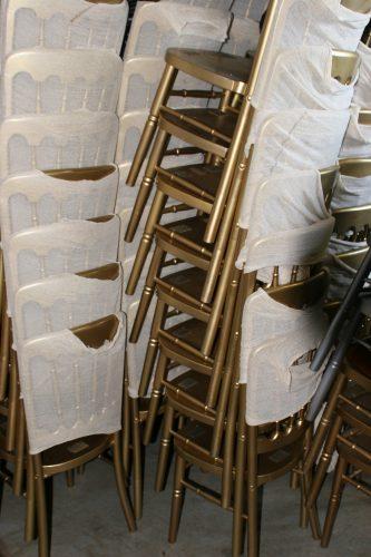 Gold Cheltenham chairs