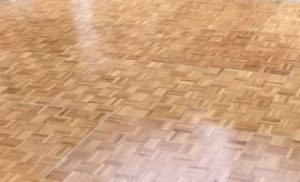 Light oak parquet dancefloor