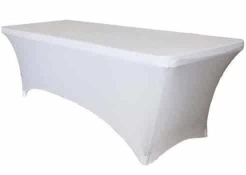 Tables U2013 6ft Trestle Table Cover White