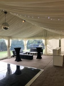 Marquee hire party package