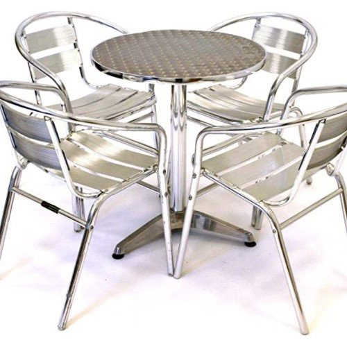 Chrome bistro set