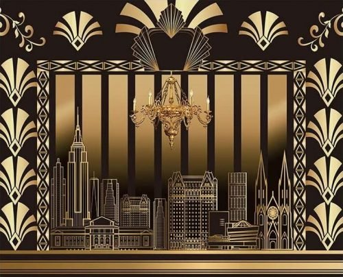 Great Gatsby 10ft x 8ft backdrop