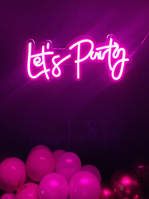Lets Party Pink Neon sign