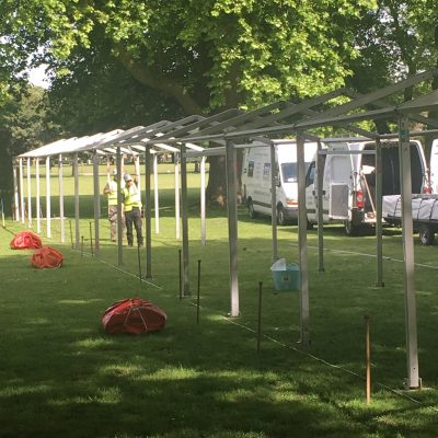 3m clearspan frame marquee hire
