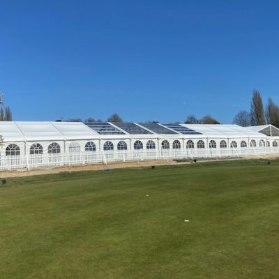 Clearspan frame marquee hire